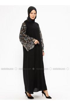 Black - Unlined - Crew neck - Abaya - AL SHEIKHA(110313613)