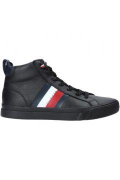 Tommy HilfigerFM0FM02371men\'s Shoes (High-top Trainers) in Black(112261417)