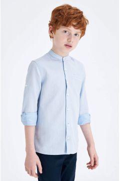 DeFacto Erkek Çocuk Smart Polo Yaka Kolu Katlamalı Gömlek(119060539)
