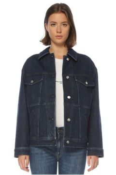 Stella McCartney Kadın Relaxed Fit Logo Bantlı Jean Ceket Lacivert 42 IT(121208190)