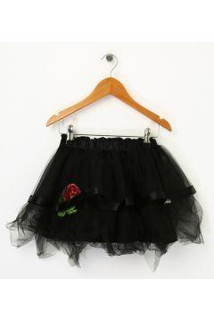 Barbie Kız Çocuk Tüllü Siyah Etek(113965717)