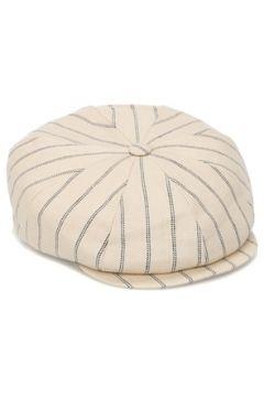 Brunello Cucinelli Erkek Bej Çizgili Şapka L EU(126848158)