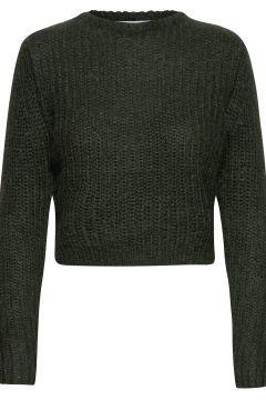 Woolly Ribbed Girlfriend Sweater Strickpullover Grün CATHRINE HAMMEL(121110390)