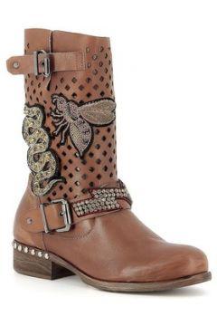 Bottes Curiosite Mi Boots en cuir avec écussons(115470526)