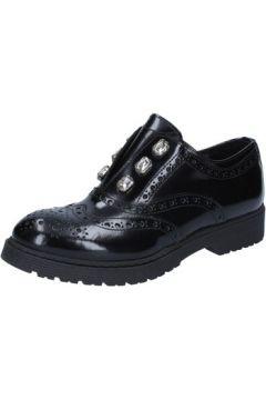 Ville basse Islo élégantes noir cuir brillant BZ326(88514667)