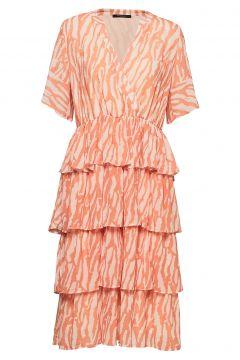 Gloss Marin Dress Bz Kleid Knielang Orange BRUUNS BAZAAR(109242938)