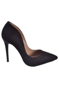 Caprito Siyah Süet Kadın Topuklu Ayakkabı(113615840)