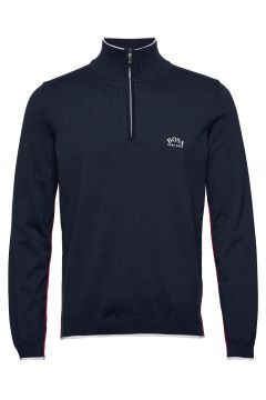 Ziston_w20 Knitwear Half Zip Jumpers Blau BOSS(114355534)