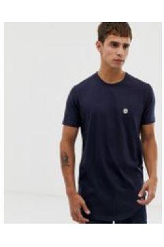 Le Breve - Langes T-Shirt mit grobem Saum - Navy(87106576)