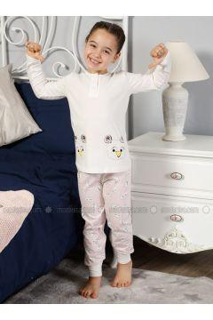 Beige - Crew neck - Multi - Kids Pijamas - Elitol Pijama(110313268)