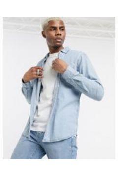 Pull&Bear - Camicia in denim azzurro-Blu(120254721)