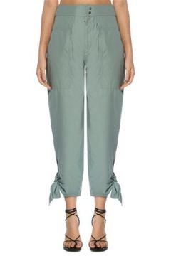 Isabel Marant Kadın Gaviao Su Yeşili Paçası Bağcıklı Pantolon Yeşil 34 FR(117771906)