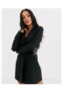 4th Reckless - Vestito blazer con catene sul retro nero(120329004)