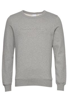 Elm Embossed Knowledge Sweat - Gots Sweat-shirt Pullover Grau KNOWLEDGE COTTON APPAREL(115807248)
