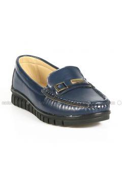 Navy Blue - Flat - Flat Shoes - ROVIGO(110316303)