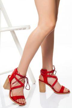 derithy -klasik Topuklu Ayakkabı-kırmızı Süet(120829472)