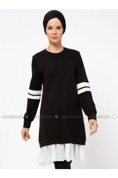 Black - White - Ecru - Crew neck - Cotton - Tunic - Mustafa Dikmen(110328344)