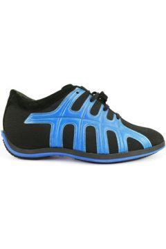 Chaussures Hogan sneakers noir cuir bleu textile AH676(115400527)