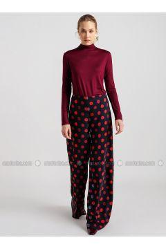 Black - Polka Dot - Pants - NG Style(110341183)