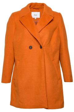 Mfame, L/S, Coat Wolljacke Jacke Orange ZIZZI(114157666)