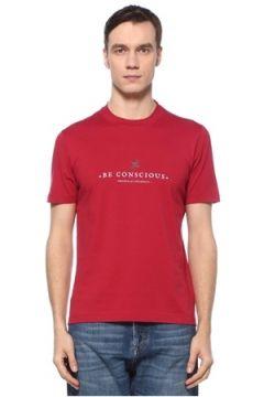 Brunello Cucinelli Erkek Kırmızı Logolu Basic T-shirt 54 IT(126848180)