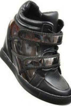 Pantofelek24.pl   Czarne trampki damskie- Sneakersy na koturnie(112083227)