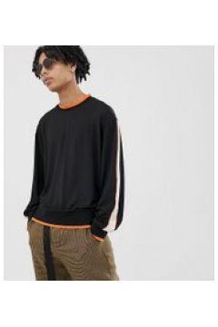 COLLUSION - Sweatshirt in Schwarz mit oranger Paspelierung - Schwarz(95028736)