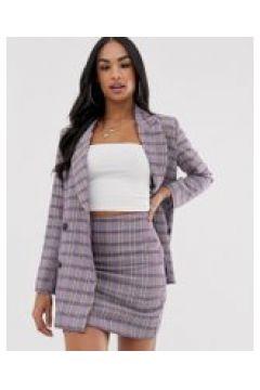 ASOS DESIGN - Anzug-Blazer in Lila kariert - Mehrfarbig(95025755)