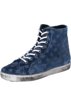 Chaussures Mancapane sneakers bleu velours BX172(115442492)
