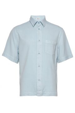 M. Owen Tencel Shirt Kurzärmliges Hemd Blau FILIPPA K(116547420)