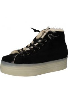 Baskets 2 Stars sneakers noir velours fourrure AE614(88516547)