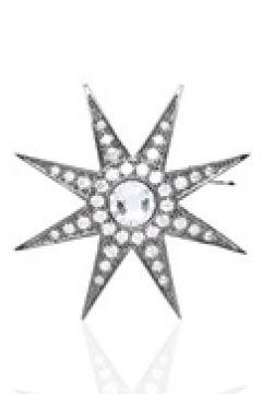 Beymen Collection Kadın Silver Yıldız Formlu Broş Siyah EU(113803392)