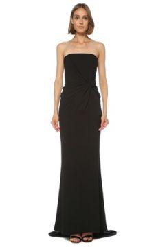 6Arlington Kadın Siyah Straplez Maksi Abiye Elbise 0 US(121969924)