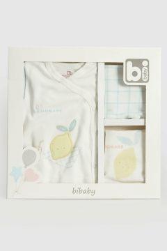 Bebek Bi Mini Desenli Hastane Çıkış Seti(119442431)