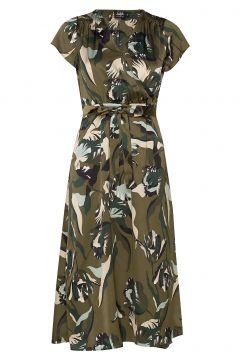 Boozt Gloria Dress Kleid Knielang Grün TWIST & TANGO(114164284)