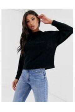 Calvin Klein Jeans - Strickpullover mit eingestricktem Logo - Schwarz(94103835)
