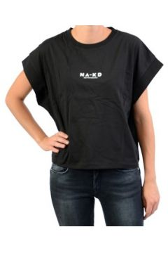 T-shirt Na-Kd NAKD Logo Cropped Boxy(127986205)