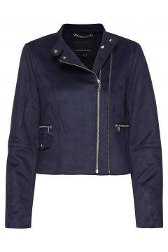 Vegan Suede Biker Jacket Lederjacke Blau BANANA REPUBLIC(114152394)