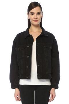 Agolde Kadın Charli Oversize Siyah Denim Ceket L EU(109198968)