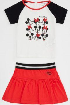 DeFacto Kız Bebek Minnie Mouse Lisanslı Alt Üst Takım(125923005)