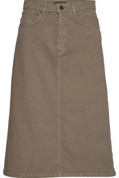 0639 - Kathy Skirt Knielanges Kleid Beige SAND(108925344)