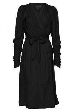 Dolly Wrap Dress Kleid Knielang Schwarz BIRGITTE HERSKIND(109200412)