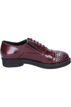 Chaussures Francescomilano élégantes bordeaux cuir clous BX326(115442523)