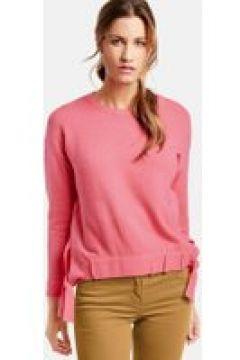 Sweter z marszczonymi tasiemkami Różowy 42/M(115897114)