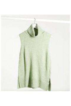 Mamalicious - Canotta premaman in maglia con collo alto verde(121237760)
