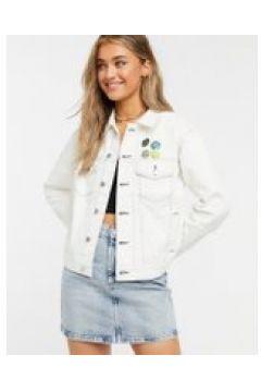 Quiksilver - Giacca di jeans pratica bianca-Bianco(120938561)