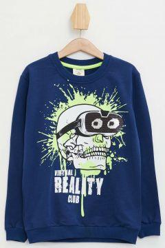 DeFacto Erkek Çocuk Kuru Kafa Baskılı Sweatshirt(108988115)
