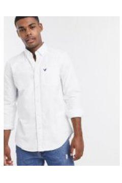 American Eagle - Camicia Oxford slim button-down bianca con aquila-Bianco(120255088)
