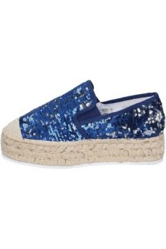Chaussures Francescomilano mocassins bleu textile paillettes BS75(115443031)
