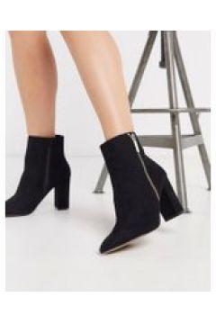 Lipsy - Stivali a punta neri con zip oro-Nero(120297411)